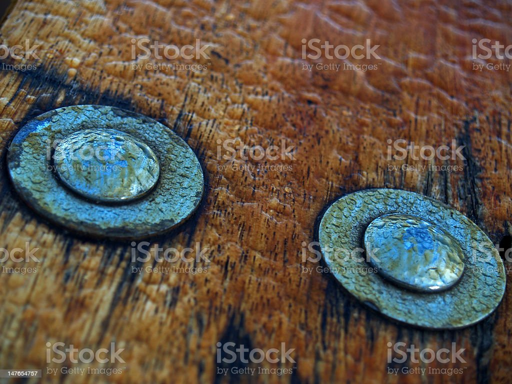 Blue bolts with dew royalty-free stock photo