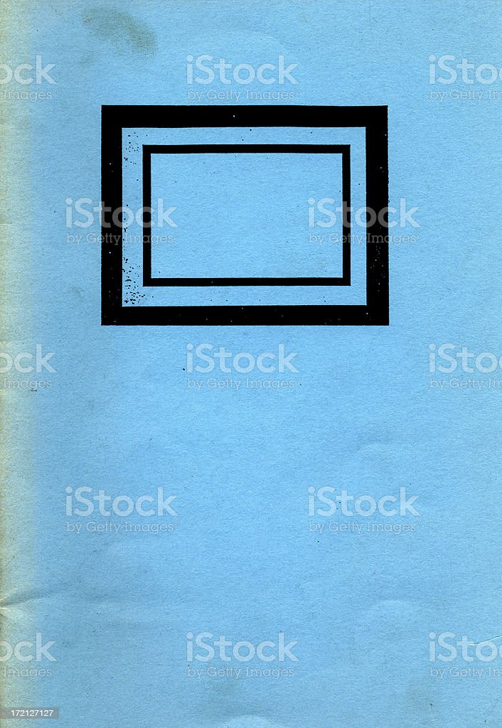 blue book cover stock photo