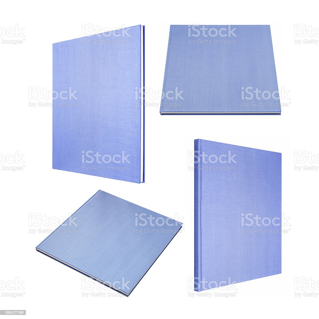 Blue book in four different angles royalty-free stock photo
