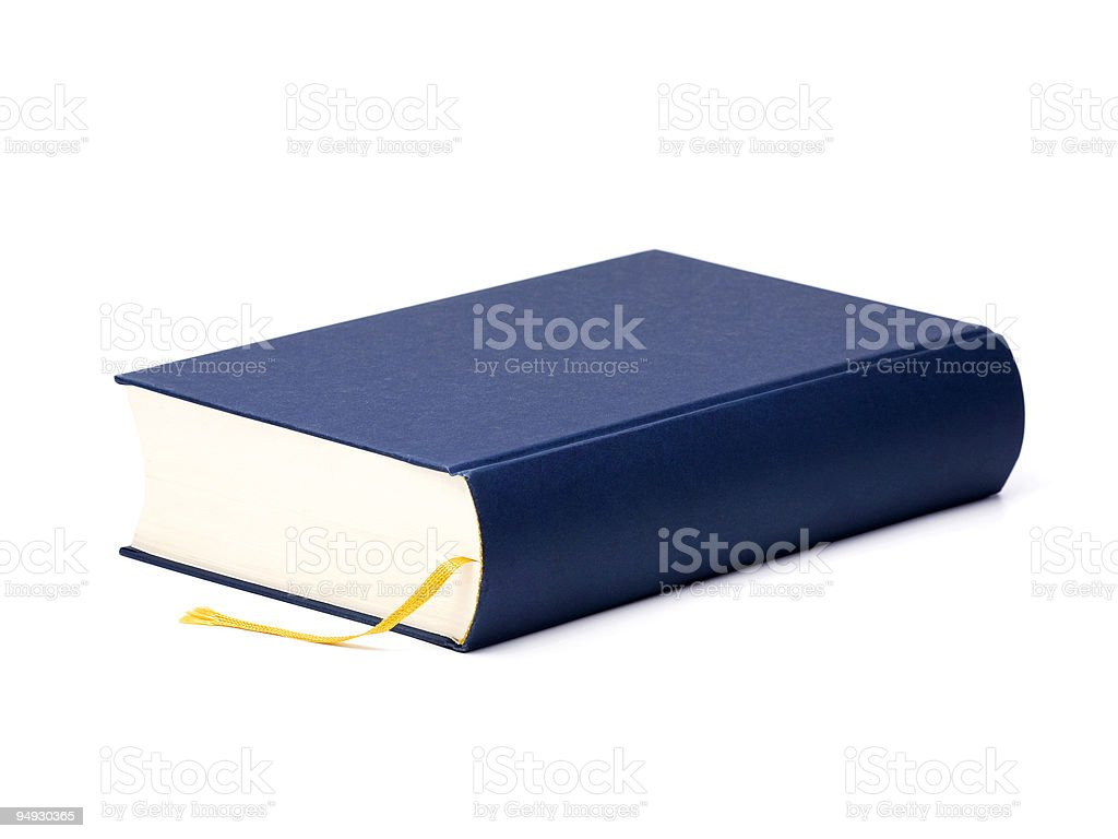 blue book with blank cover royalty-free stock photo