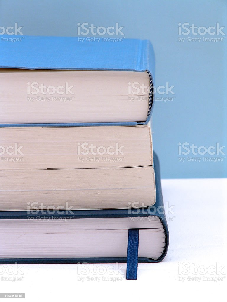 Blue books royalty-free stock photo