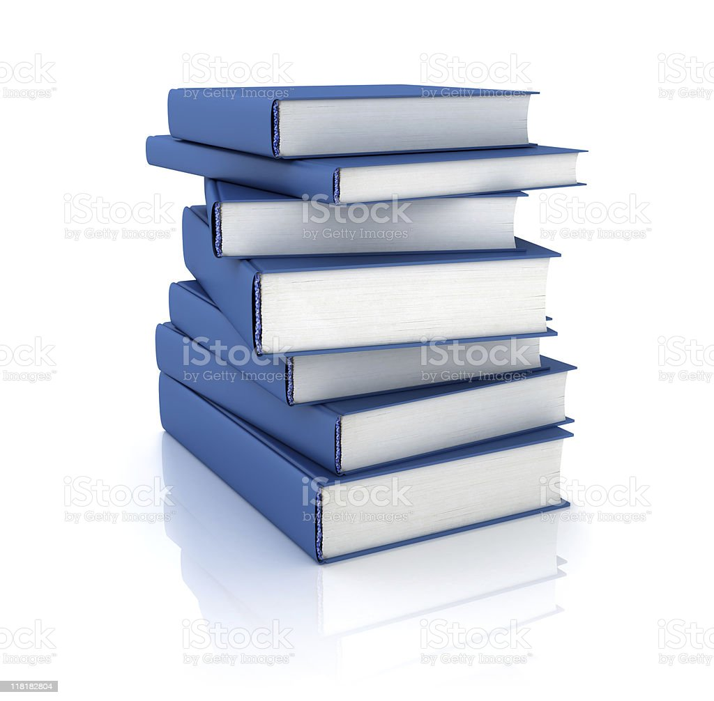 Blue Books stack royalty-free stock photo