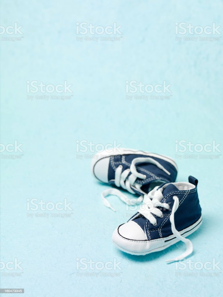 Blue Boots for Little Boys royalty-free stock photo