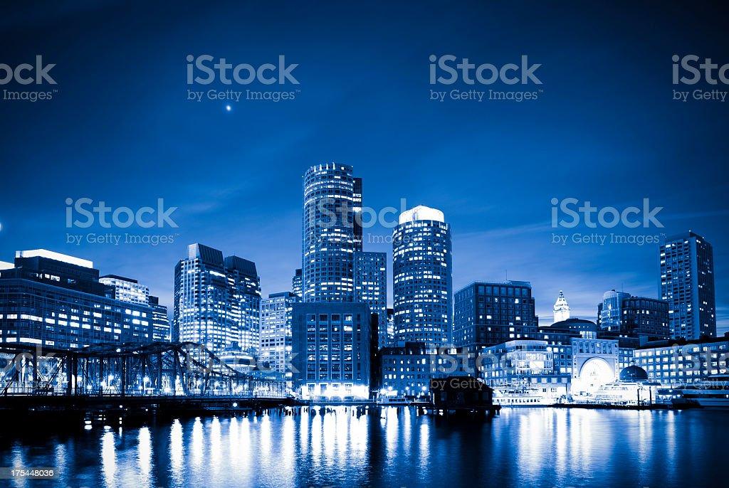 Blue Boston royalty-free stock photo