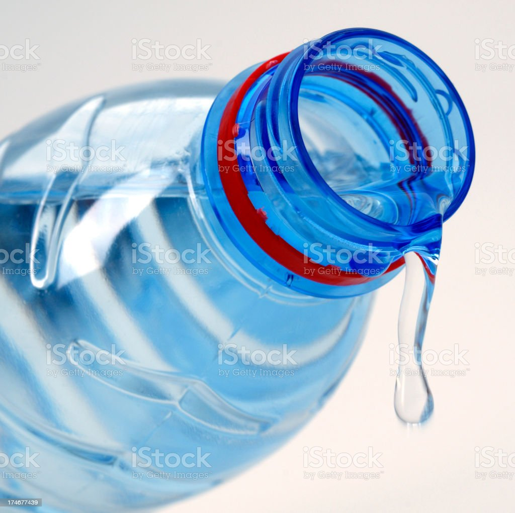 blue bottle of water royalty-free stock photo