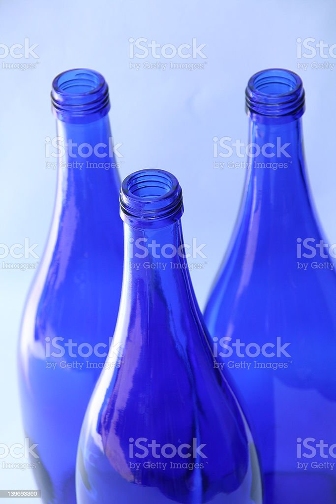 blue bottles of glass royalty-free stock photo