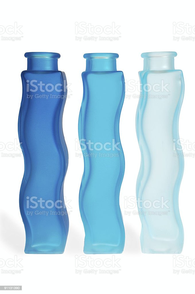 Blue bottles royalty-free stock photo