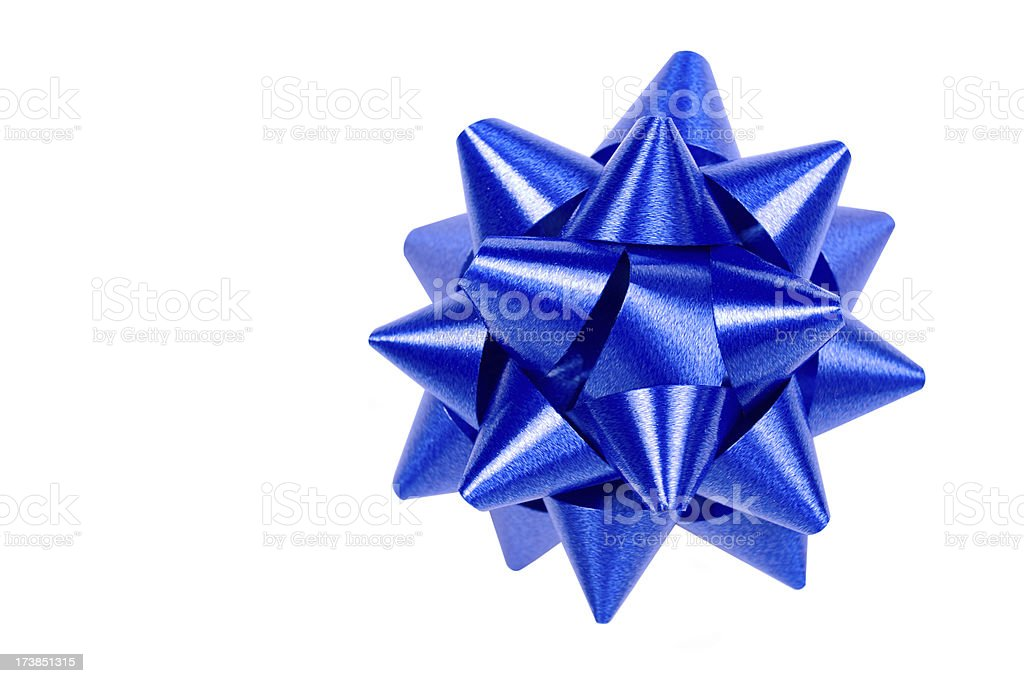 Blue Bow royalty-free stock photo