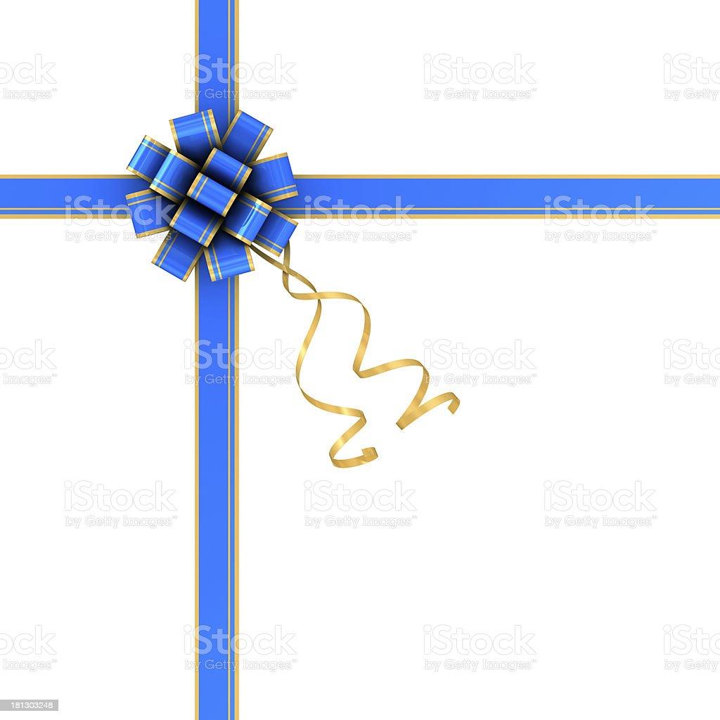 Blue bow royalty-free stock photo