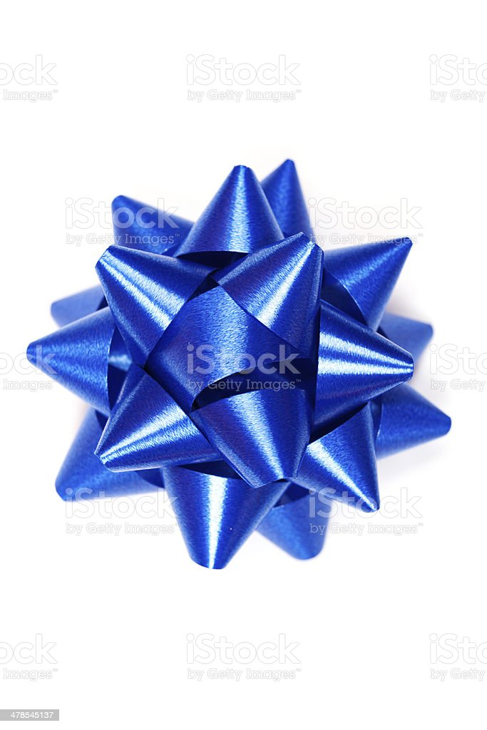 Blue bow stock photo
