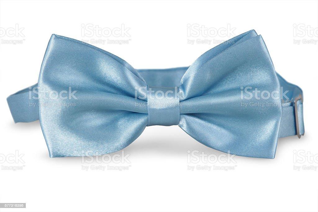 blue bow Tie stock photo