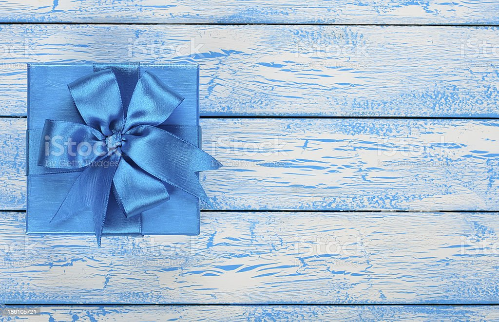 Blue box royalty-free stock photo