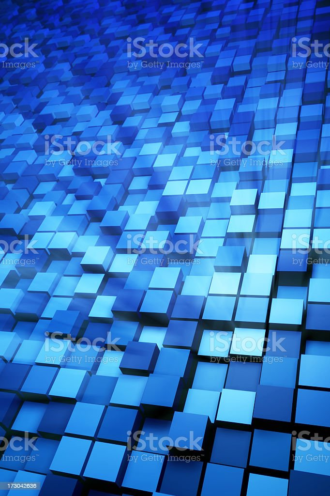 Blue Boxes Background royalty-free stock photo