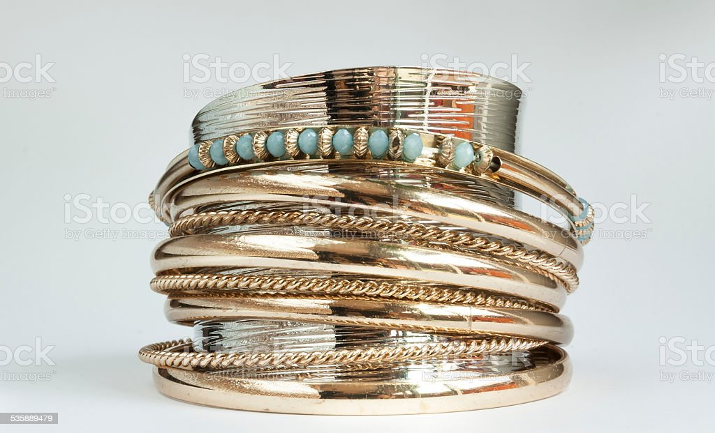 Blue bracelet royalty-free stock photo