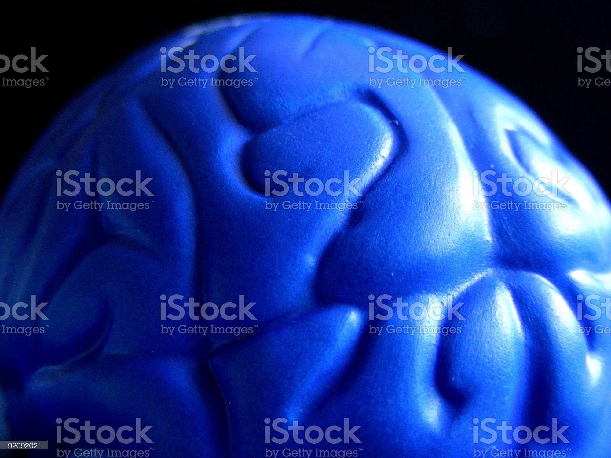Blue Brain royalty-free stock photo