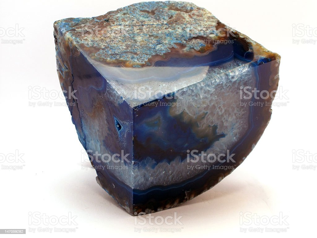 Blue Brazilian Agate stock photo