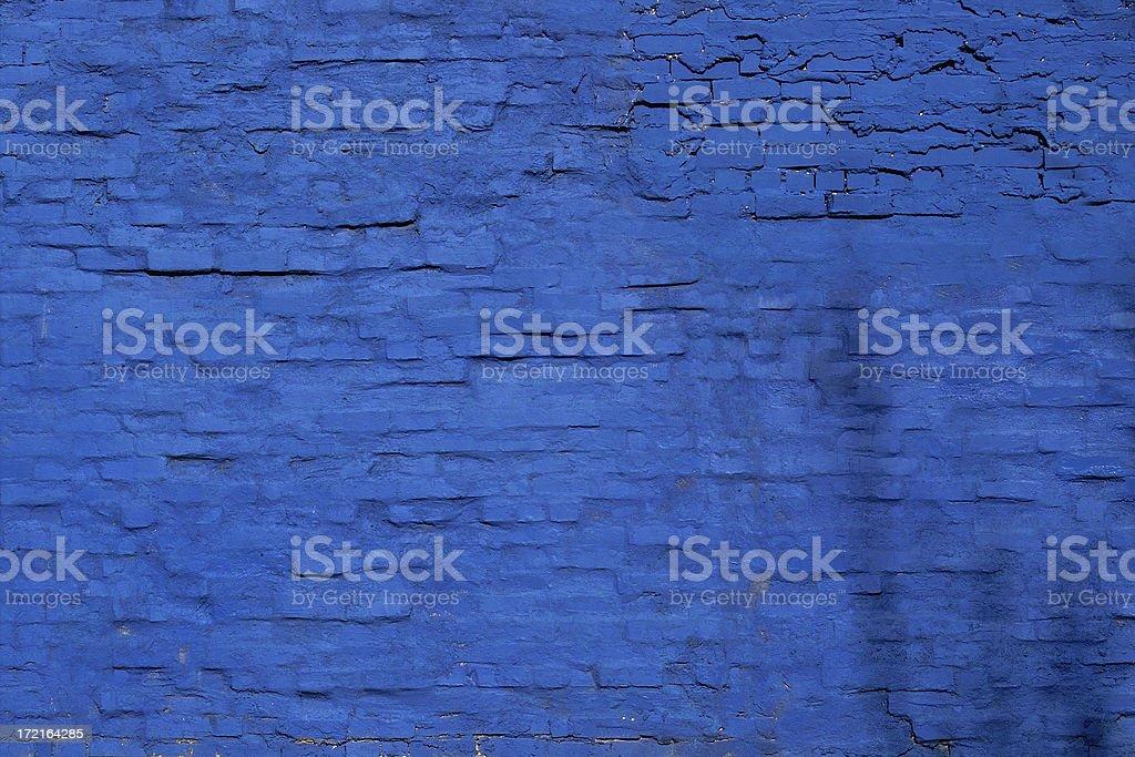 Blue Brick Wall stock photo