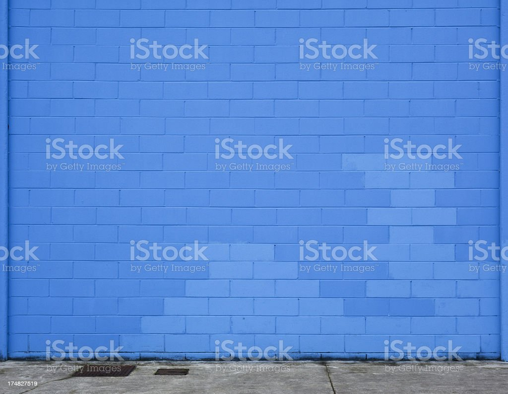 Blue Brick Wall royalty-free stock photo