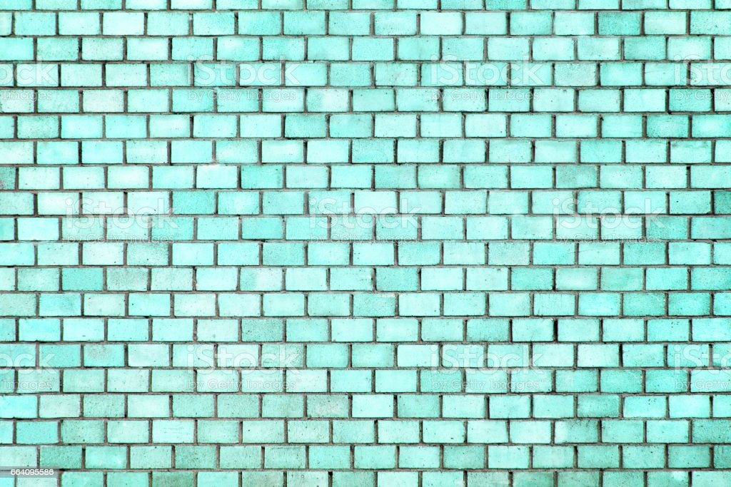 blue brick wall texture, color background stone stock photo