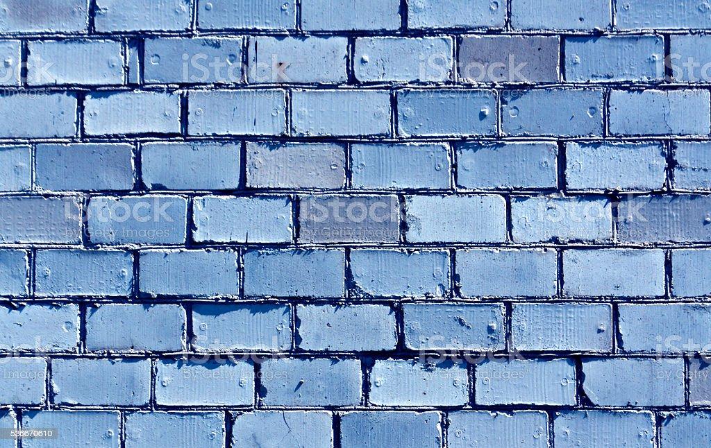 Blue brick wall texture. stock photo