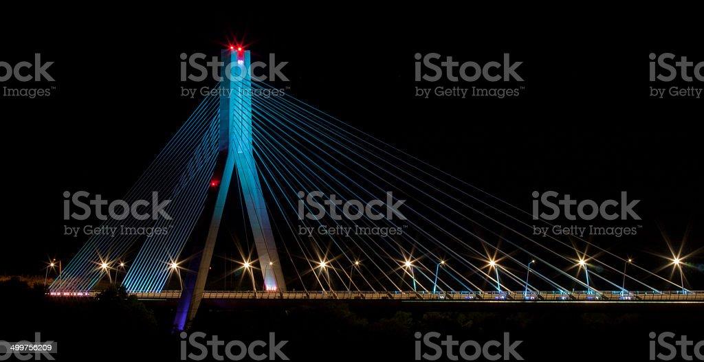 Blue bridge Drogheda stock photo