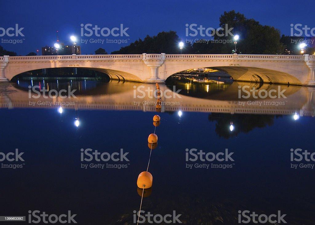 Blue Bridge stock photo