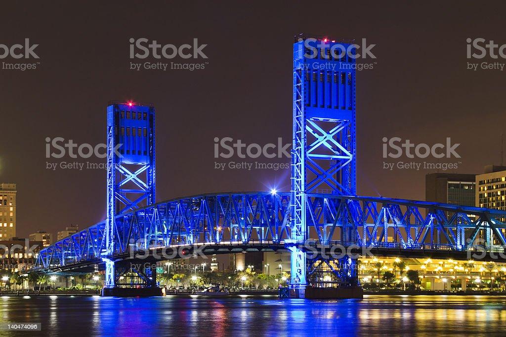 Blue Bridge royalty-free stock photo