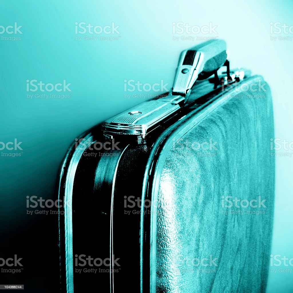Blue briefcase stock photo