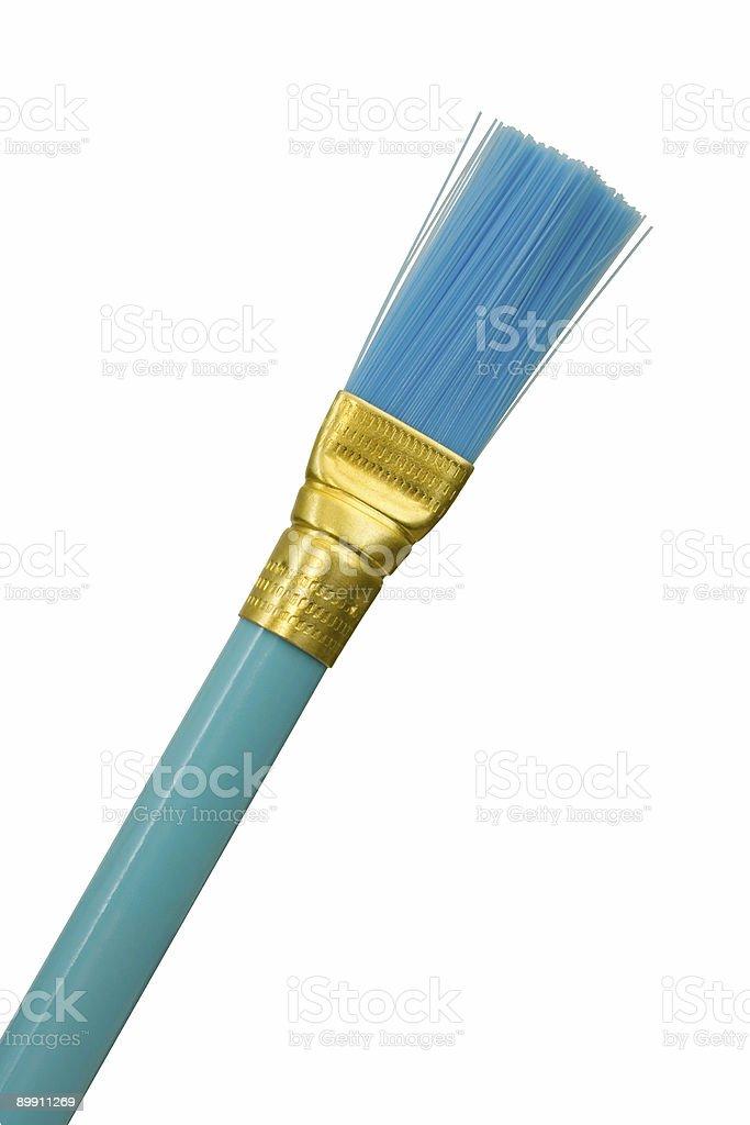 Blue brush, close-up stock photo