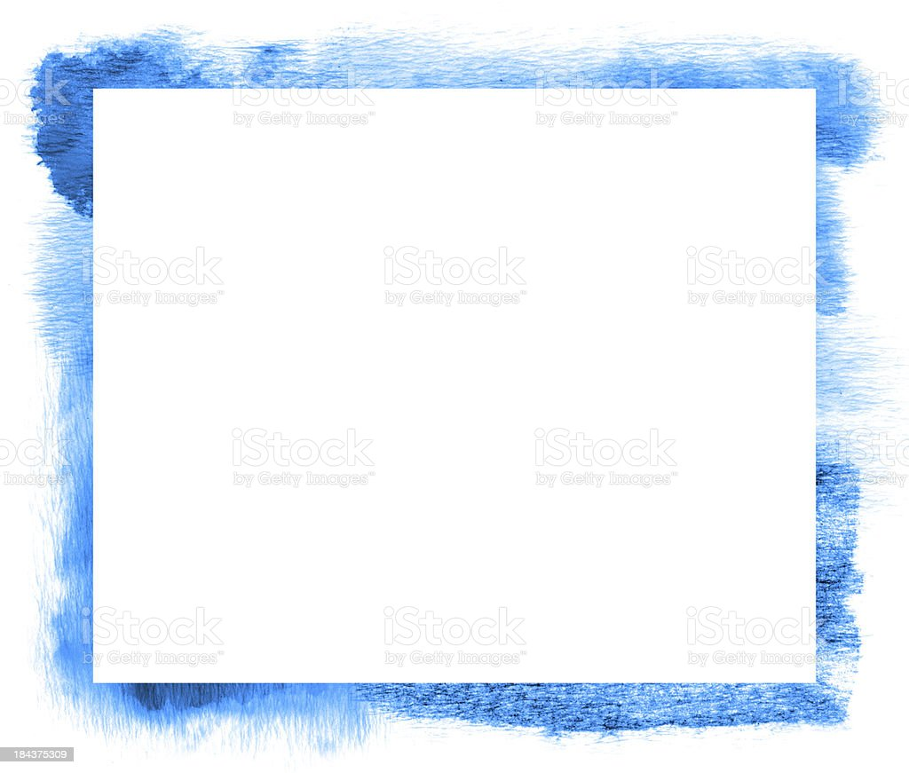 Blue Brush Frame (XXXL) stock photo