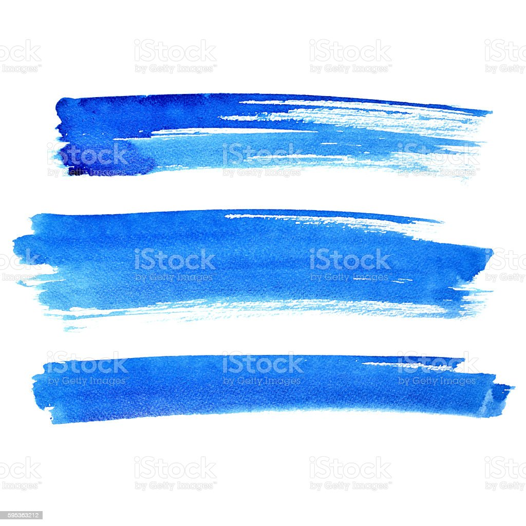 Blue brush strokes stock photo