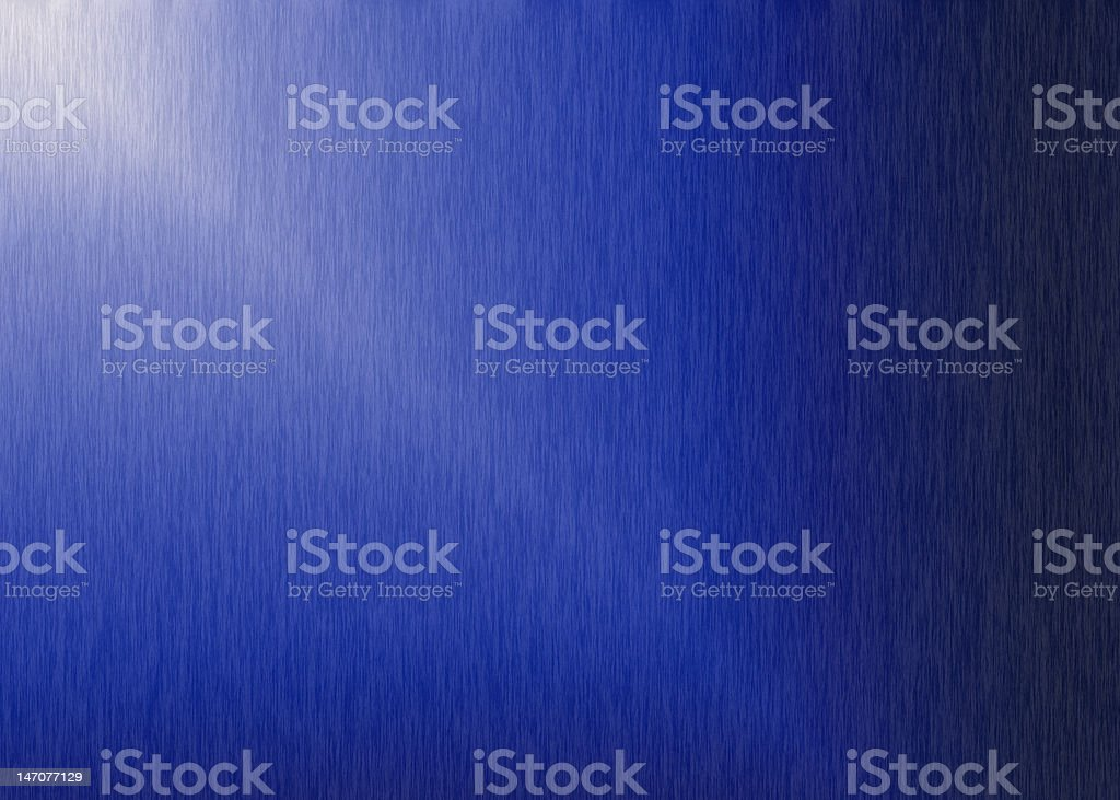 Blue Brushed Aluminum Background stock photo