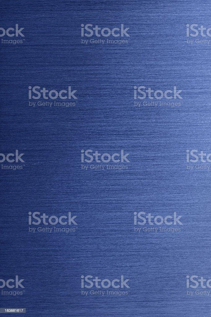 Blue Brushed Metal Background stock photo
