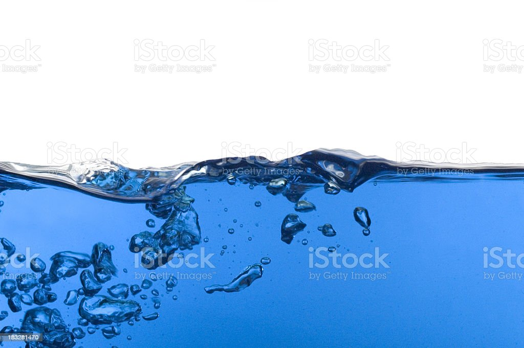 blue bubbles royalty-free stock photo