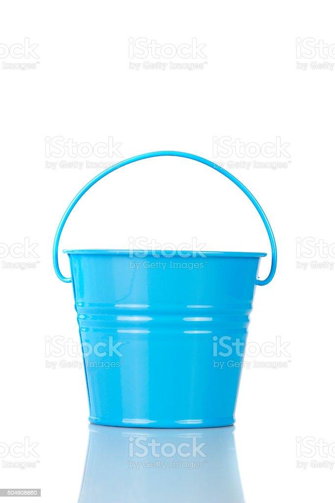 blue bucket stock photo