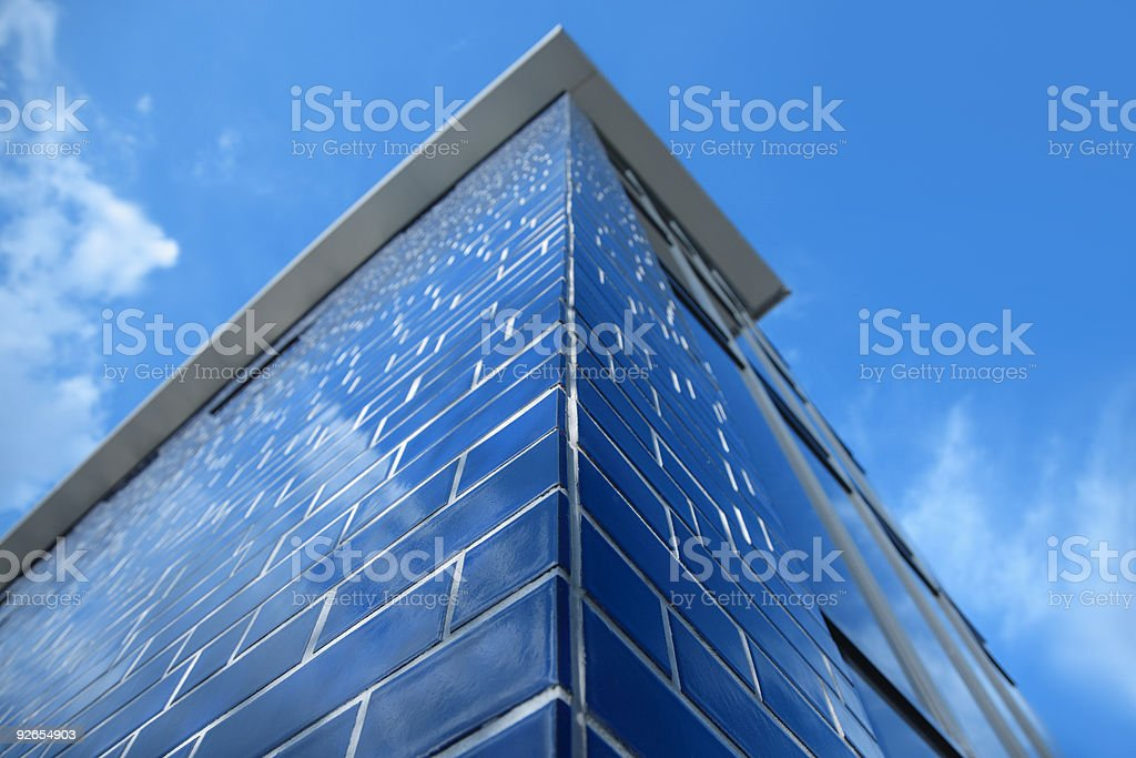 Blue Building Against Sky royalty-free stock photo