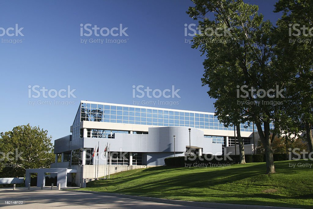 Blue Building and Sky royalty-free stock photo