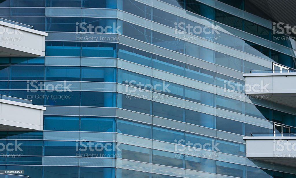 Blue building composition stock photo