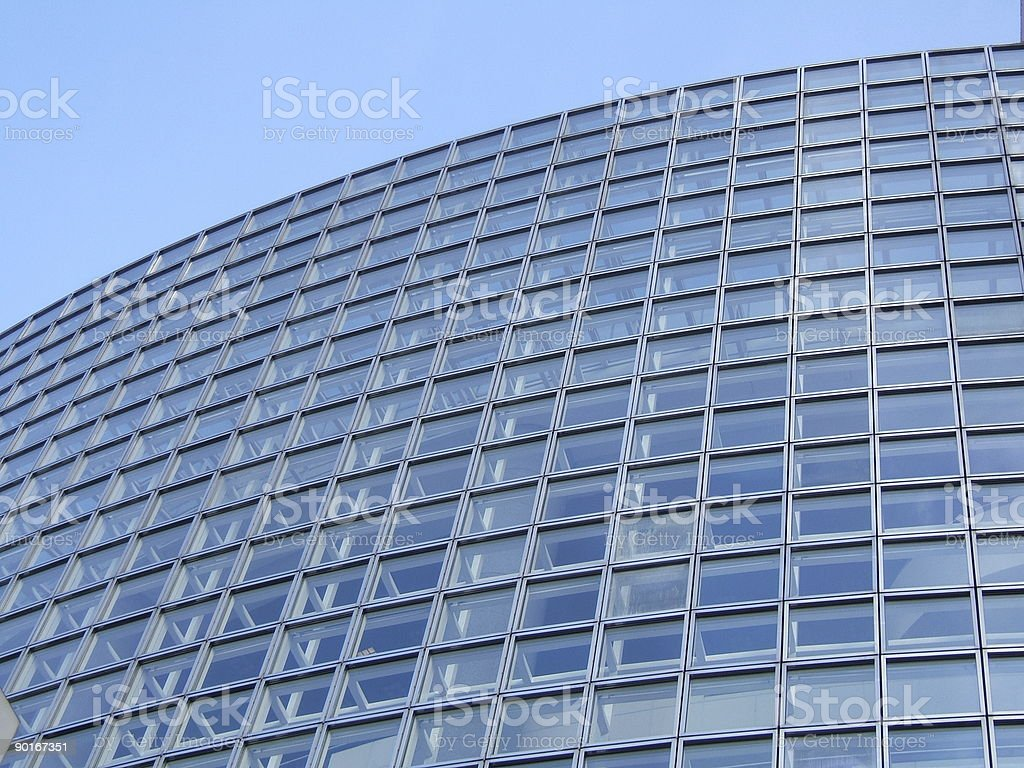 Blue building pattern royalty-free stock photo