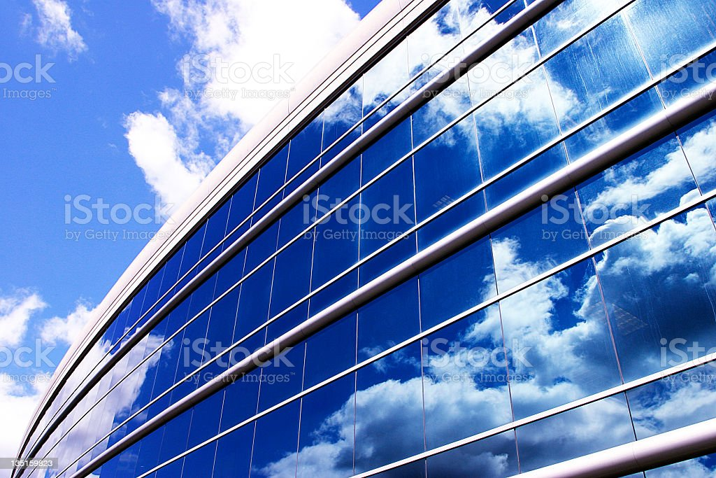 Blue Building Perspective royalty-free stock photo