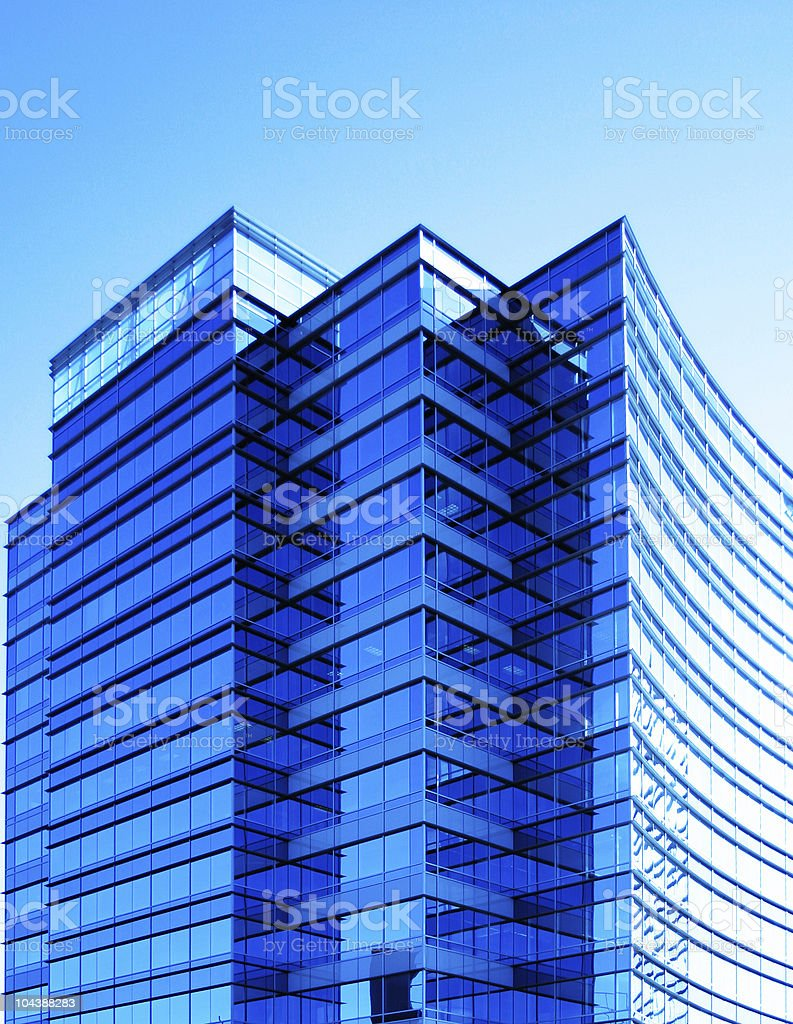 Blue Building royalty-free stock photo