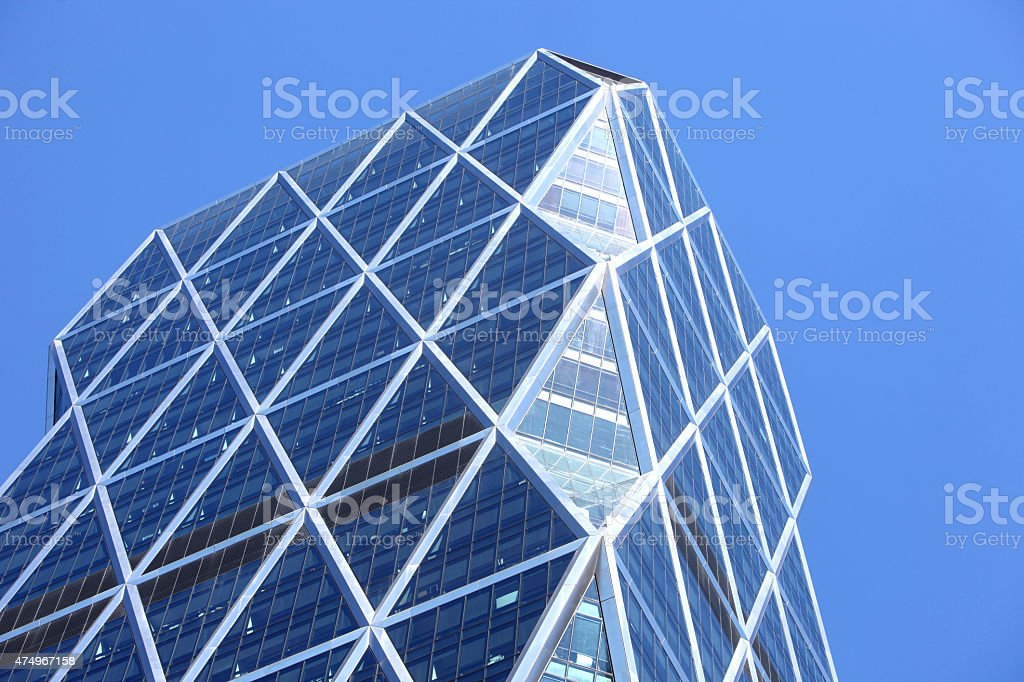 Blue Building stock photo