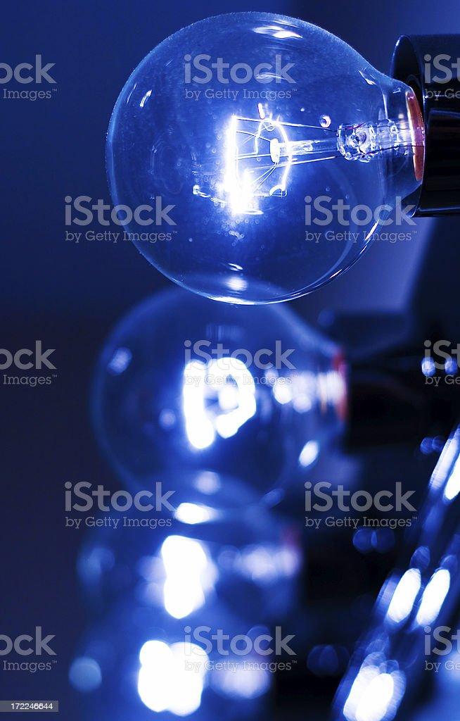 Blue bulbs royalty-free stock photo