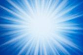 Blue Burst Light Beam Abstract Background