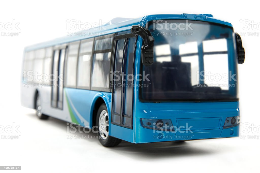 Blue Bus stock photo