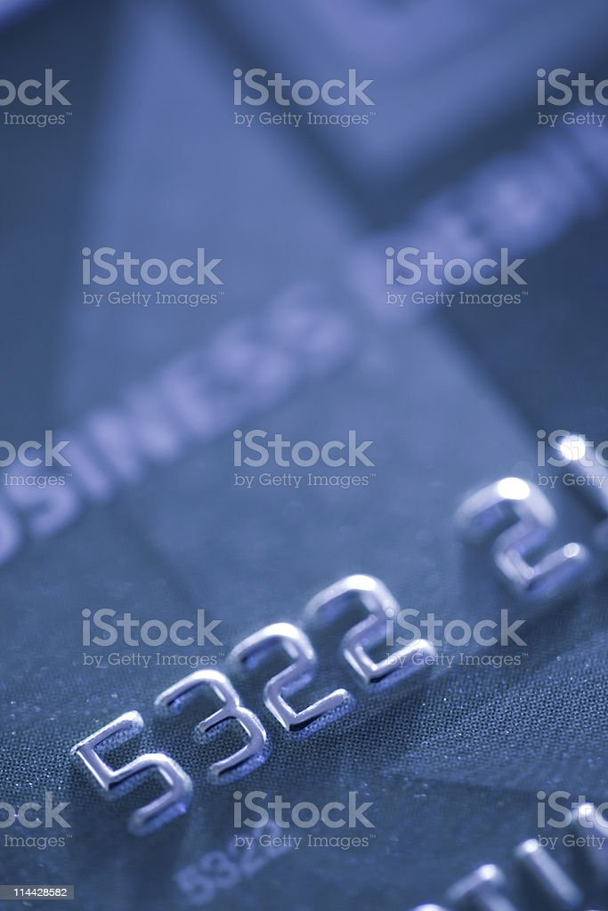 blue business card royalty-free stock photo