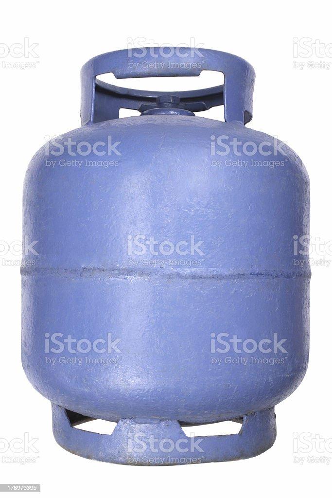 Blue butane gas tank royalty-free stock photo