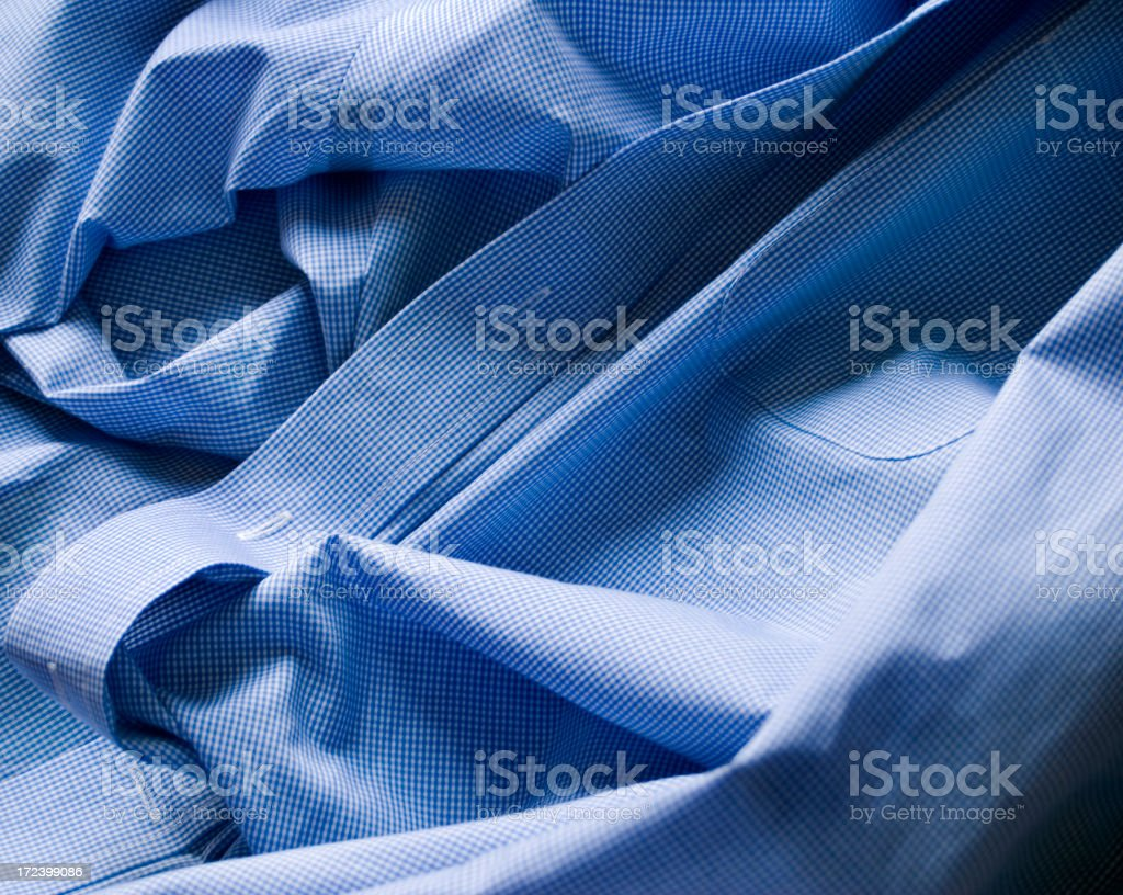Blue button down royalty-free stock photo