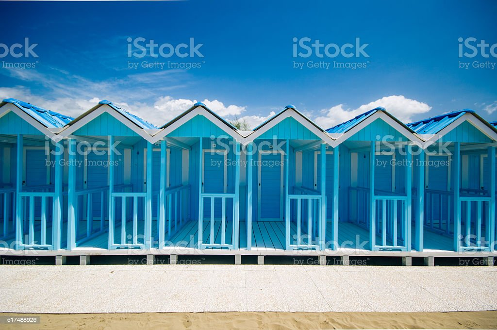Blue Cabina,Forte dei Marmi,iTaly stock photo