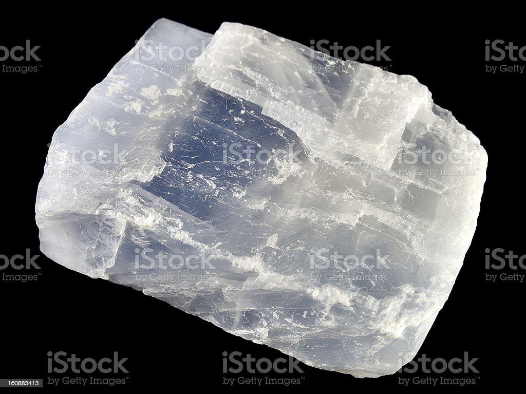 Blue calcite stock photo